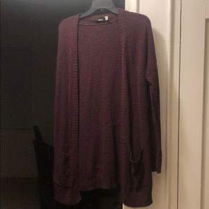 Urban outfitters maroon/black cardigan